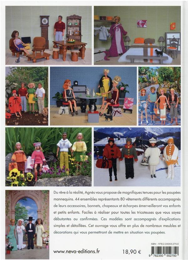 Tenues au tricot pour poupée mannequin : accessoires et mobiliers