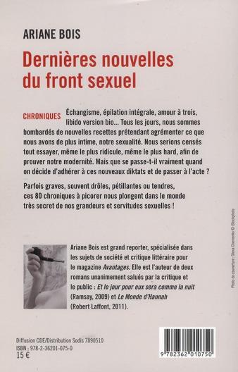 Dernières nouvelles du front sexuel