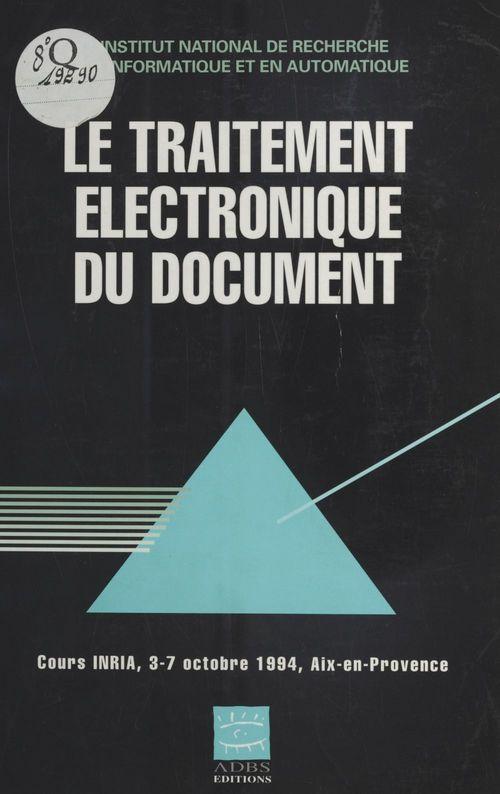 Le Traitement électronique du document