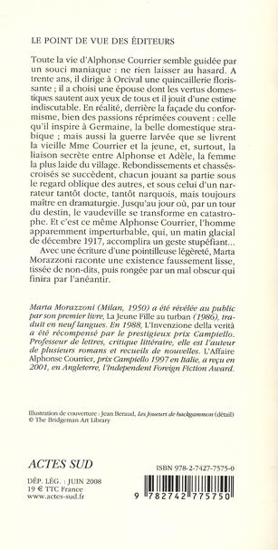 L'affaire Alphonse Courrier