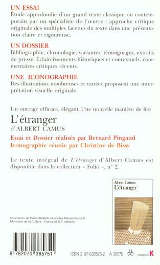 L'etranger d'albert camus (essai et dossier)