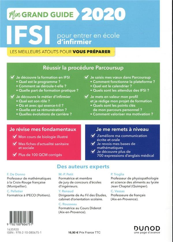 Je prépare ; IFSI ; mon grand guide pour entrer en école d'infirmier : réussir la procédure parcoursup, fondamentaux, remise à niveau (2e édition)