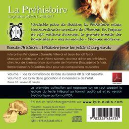 écoute l'histoire de... la préhistoire t.1