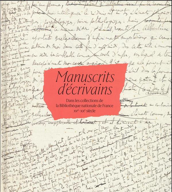manuscrits d'écrivains dans les collections de la Bibliothèque nationale de France, XVe-XXe siècle