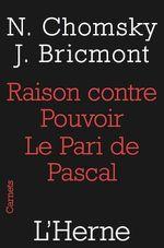 Vente Livre Numérique : Raison contre pouvoir : Le pari de Pascal  - Noam CHOMSKY - Jean Bricmont