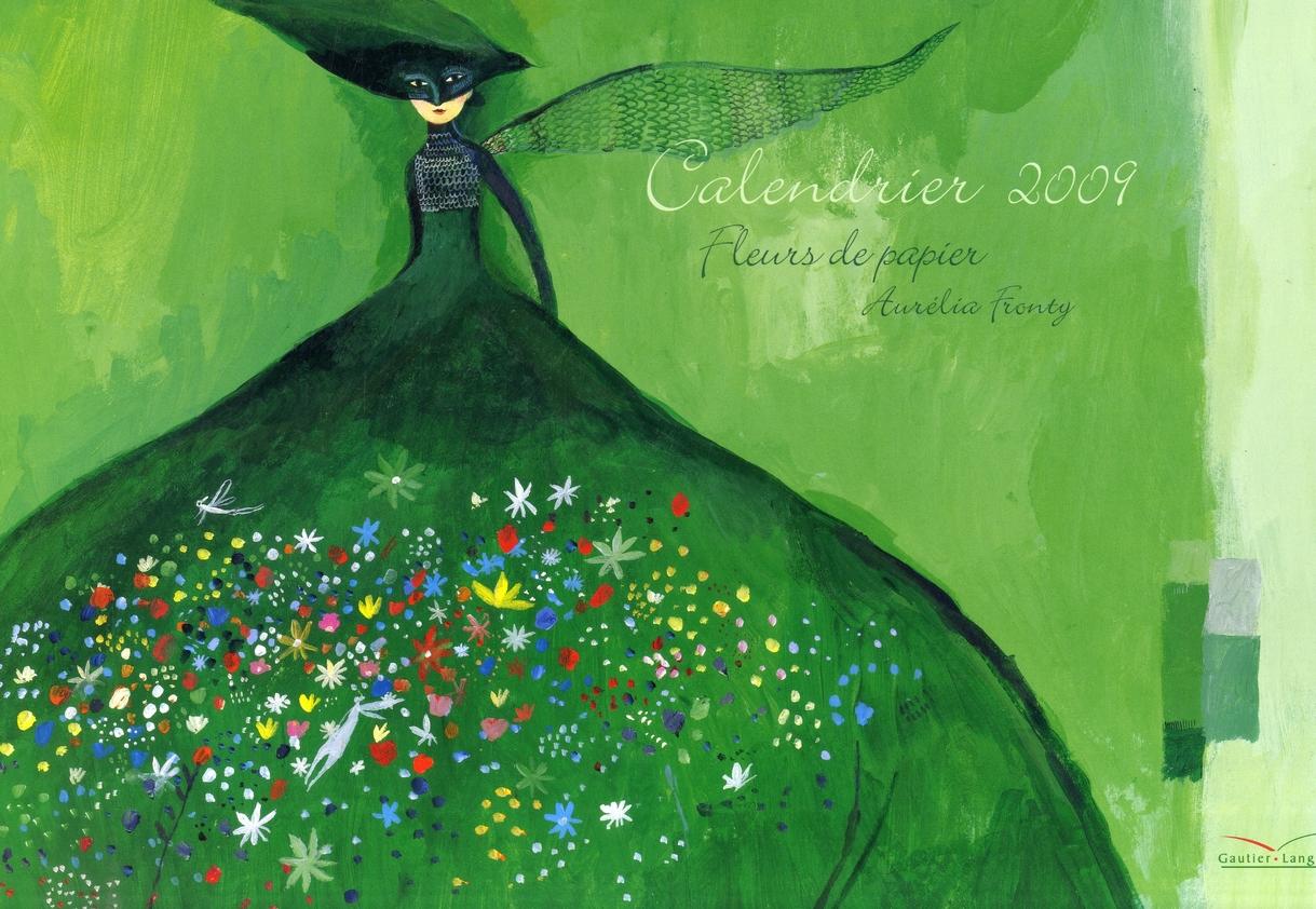Calendrier fleur de papier 2009