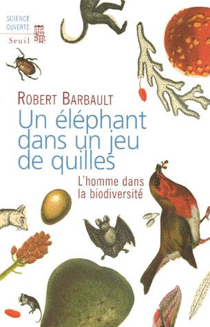Un elephant dans un jeu de quilles. l'homme dans la biodiversite