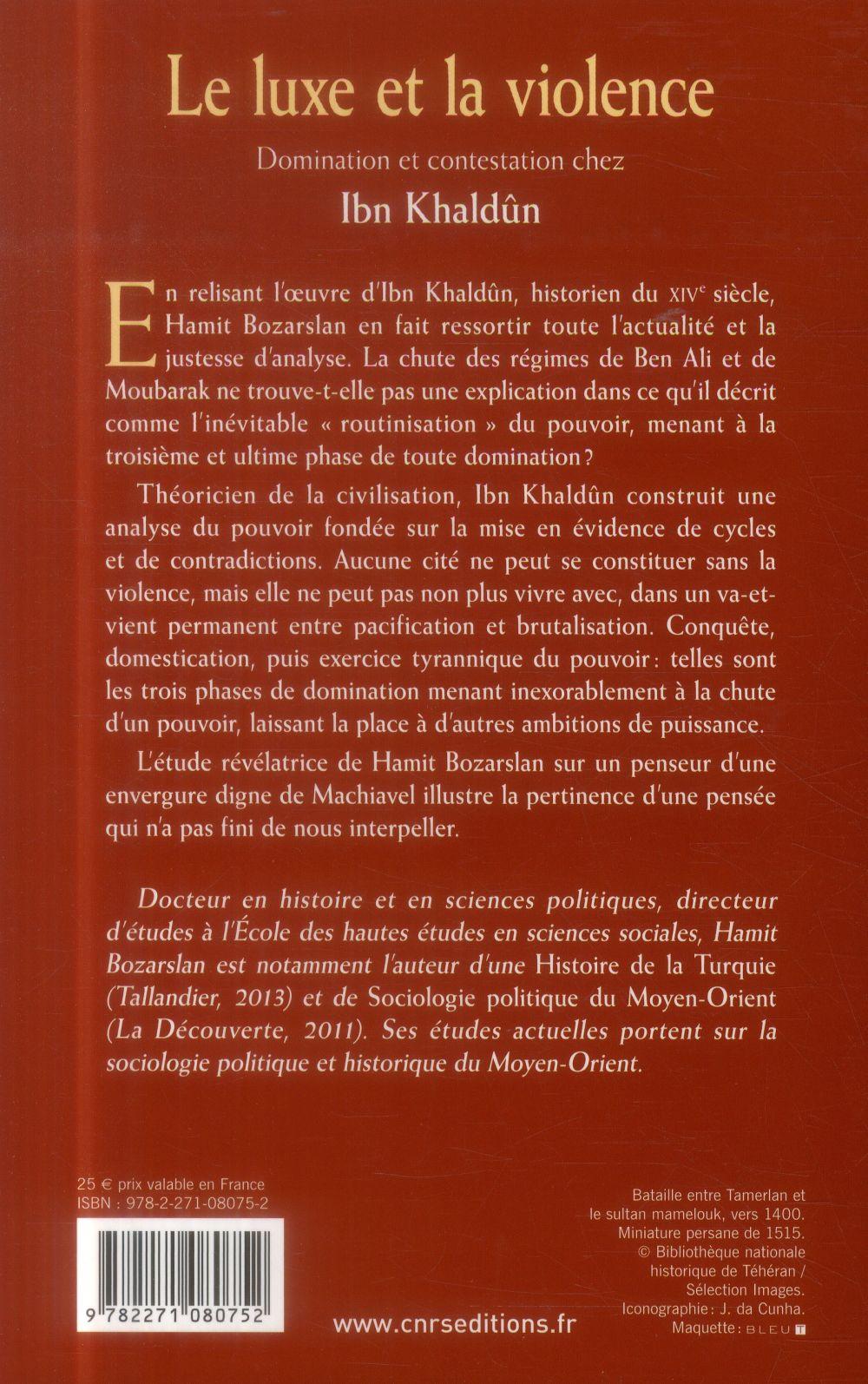 le luxe et la violence ; domination et contestation chez Ibn Khaldûn