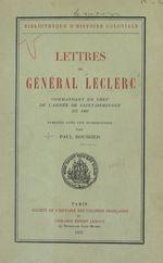 Lettres du général Leclerc, commandant en chef de l'armée de Saint-Domingue en 1802