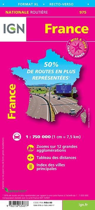 France routière XL recto/verso (édition 2017)
