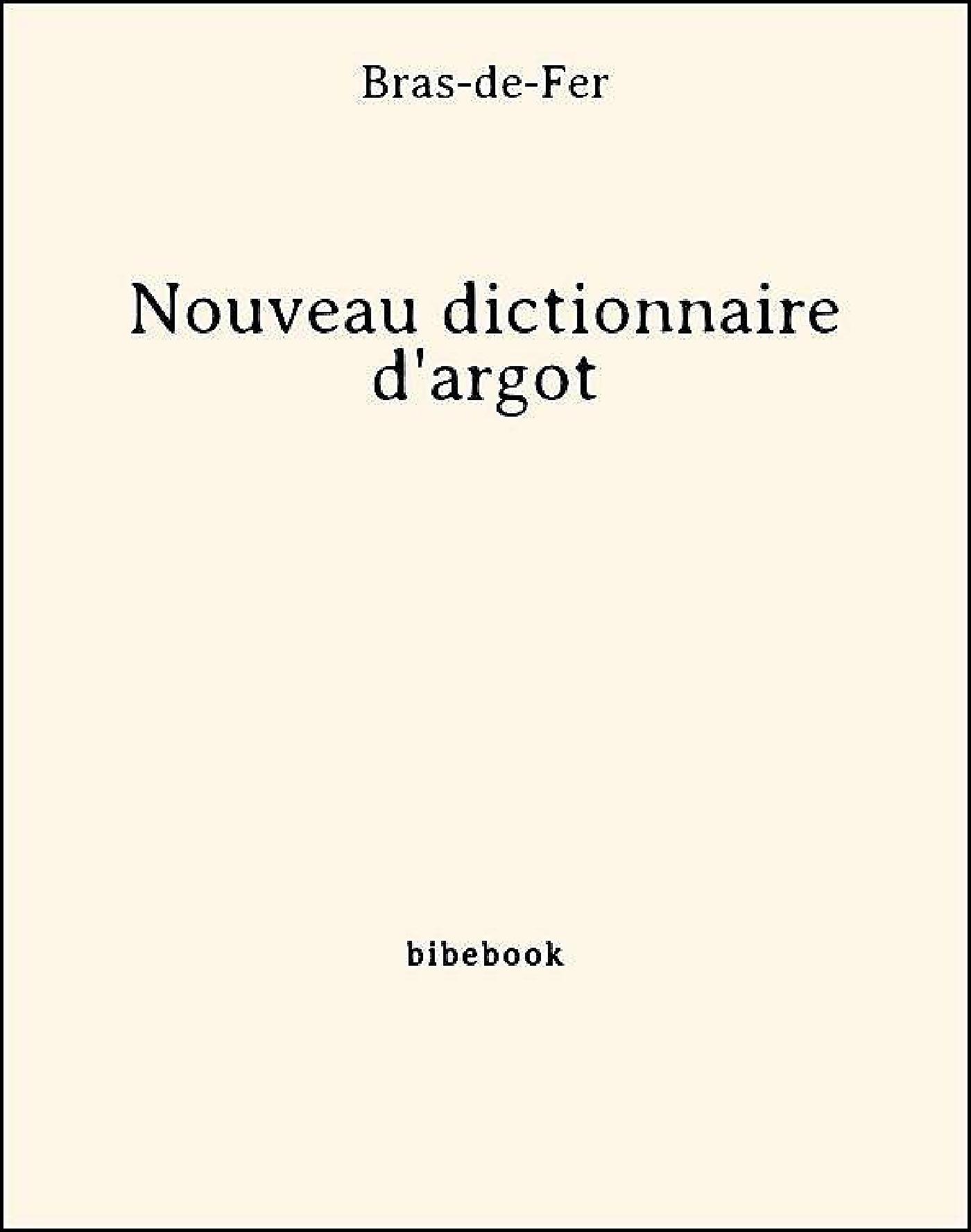 Nouveau dictionnaire d'argot
