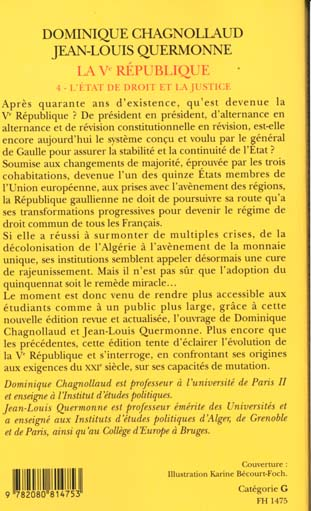La ve republique - t04 - l'etat de droit et la justice