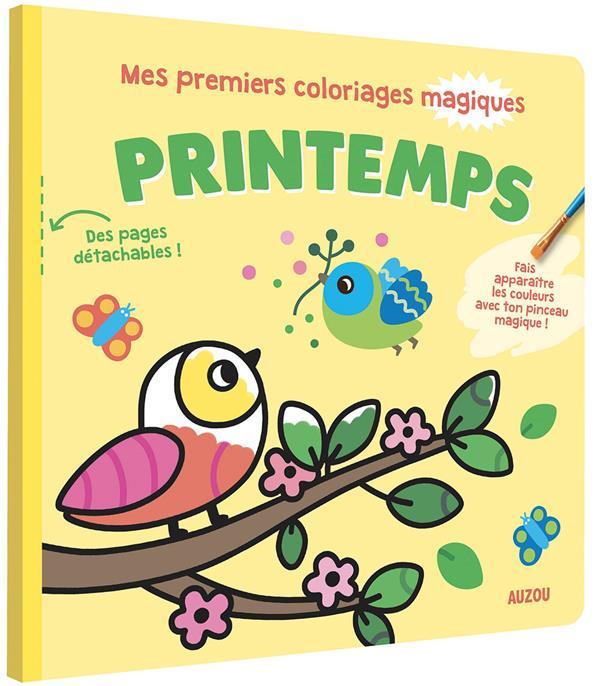 Mes premiers coloriages magiques ; printemps