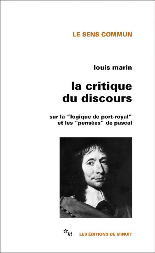 La Critique du discours