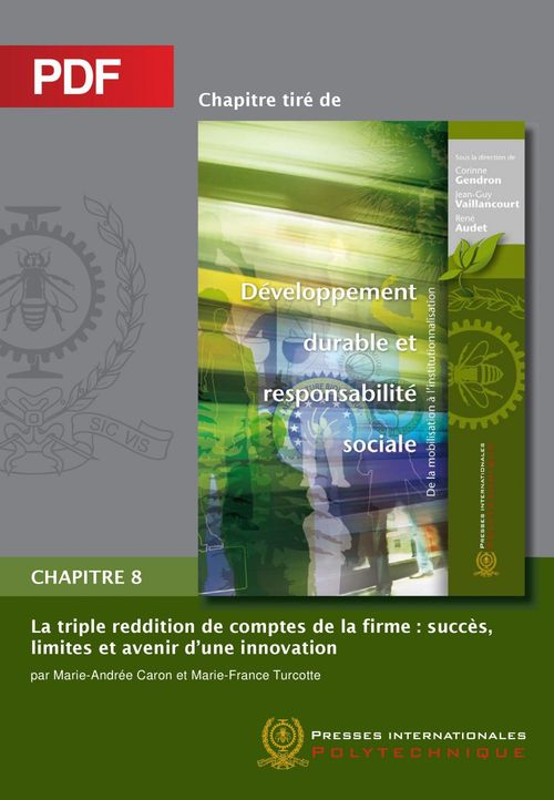 La triple reddition de comptes de la firme ; succès, limites et avenir d'une innovation ; chapitre 8