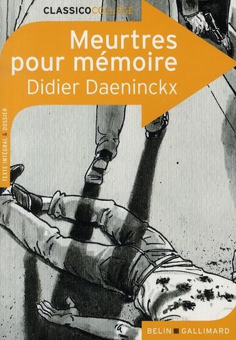 Meurtres pour mémoire, de Didier Daeninckx