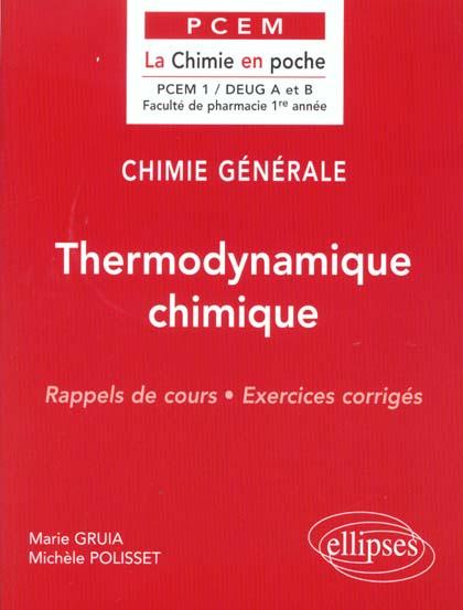 Chimie Generale T.2 ; Thermodynamique Chimique