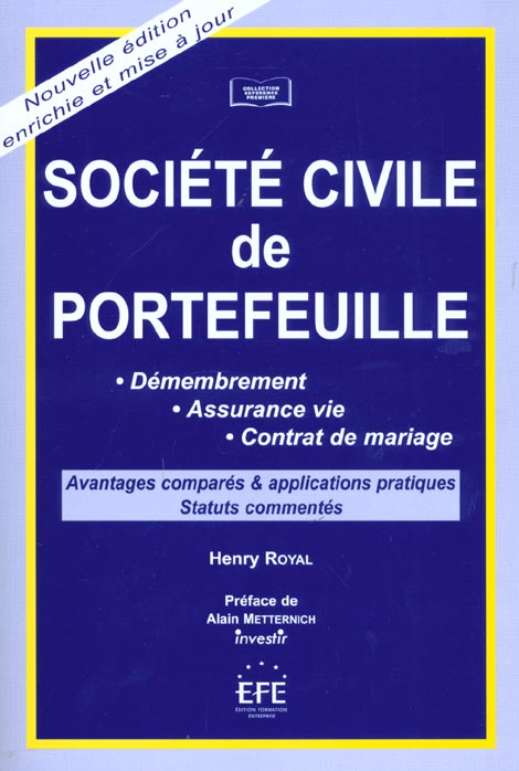 Societe civile de portefeuilles