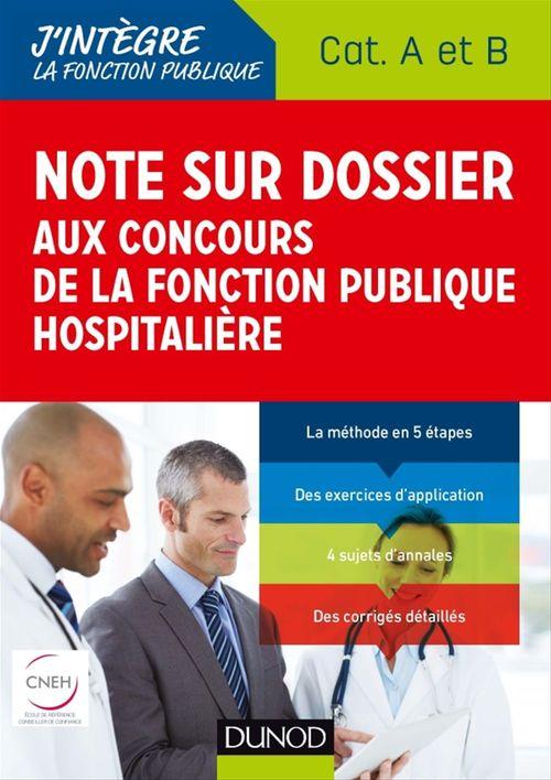 Note sur dossier aux concours de la fonction publique hospitalière