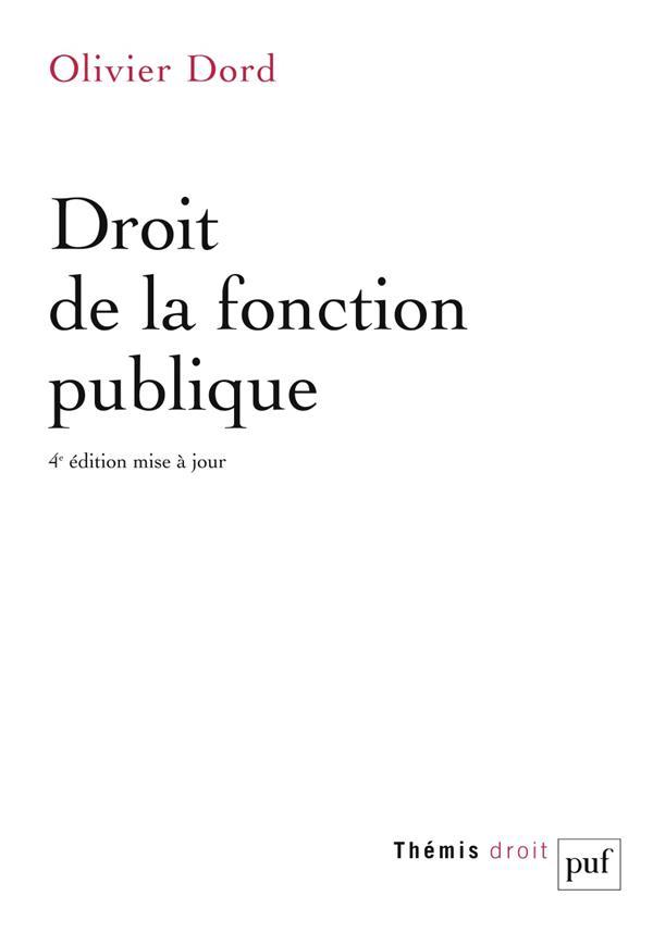 Droit de la fonction publique (4e édition)