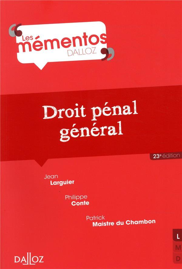 Droit pénal général (23e édition)