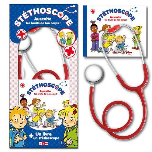 Stéthoscope ; ausculte les bruits de ton corps ; coffret