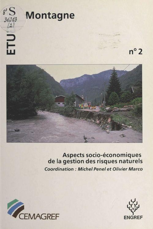 Aspects socio-économiques de la gestion des risques naturels