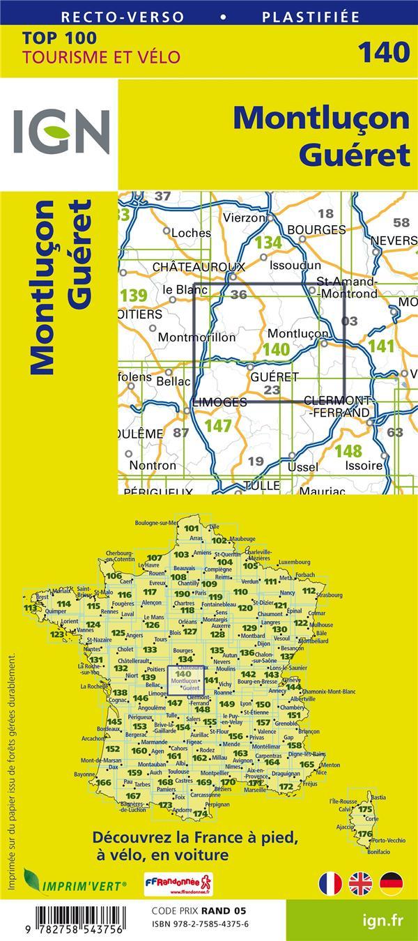 TOP100140 ; Montluçon, Gueret (4e édition)