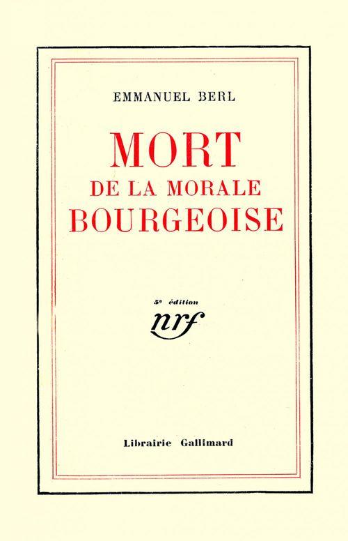 Mort de la morale bourgeoise