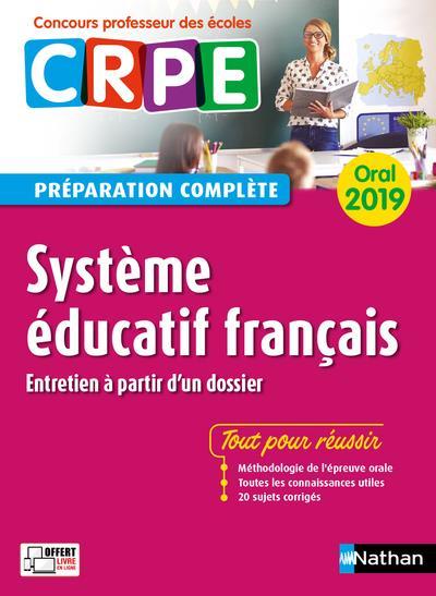 Système éducatif français ; oral (édition 2019)