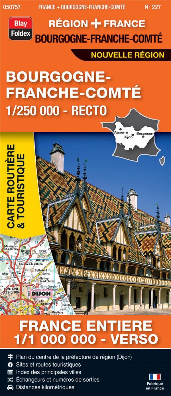 Carte routière & touristique N.227 ; Bourgogne - Franche-Comté