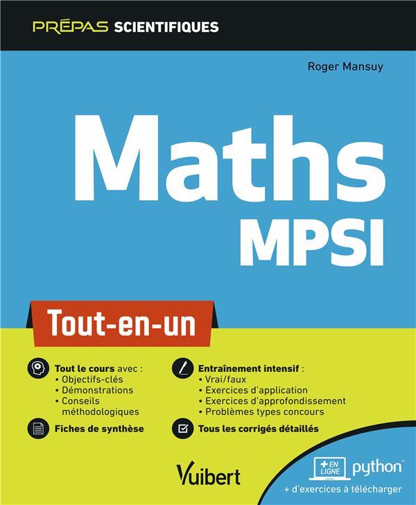 Maths MPSI ; tout-en-un