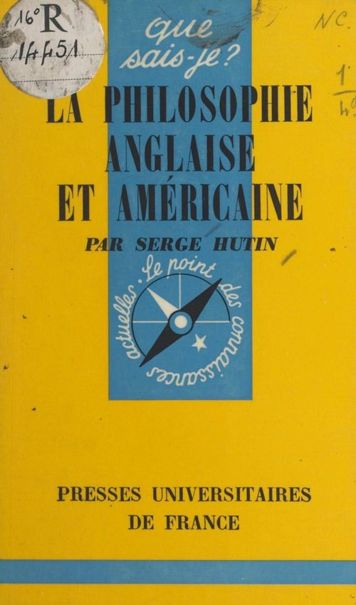 La philosophie anglaise et américaine