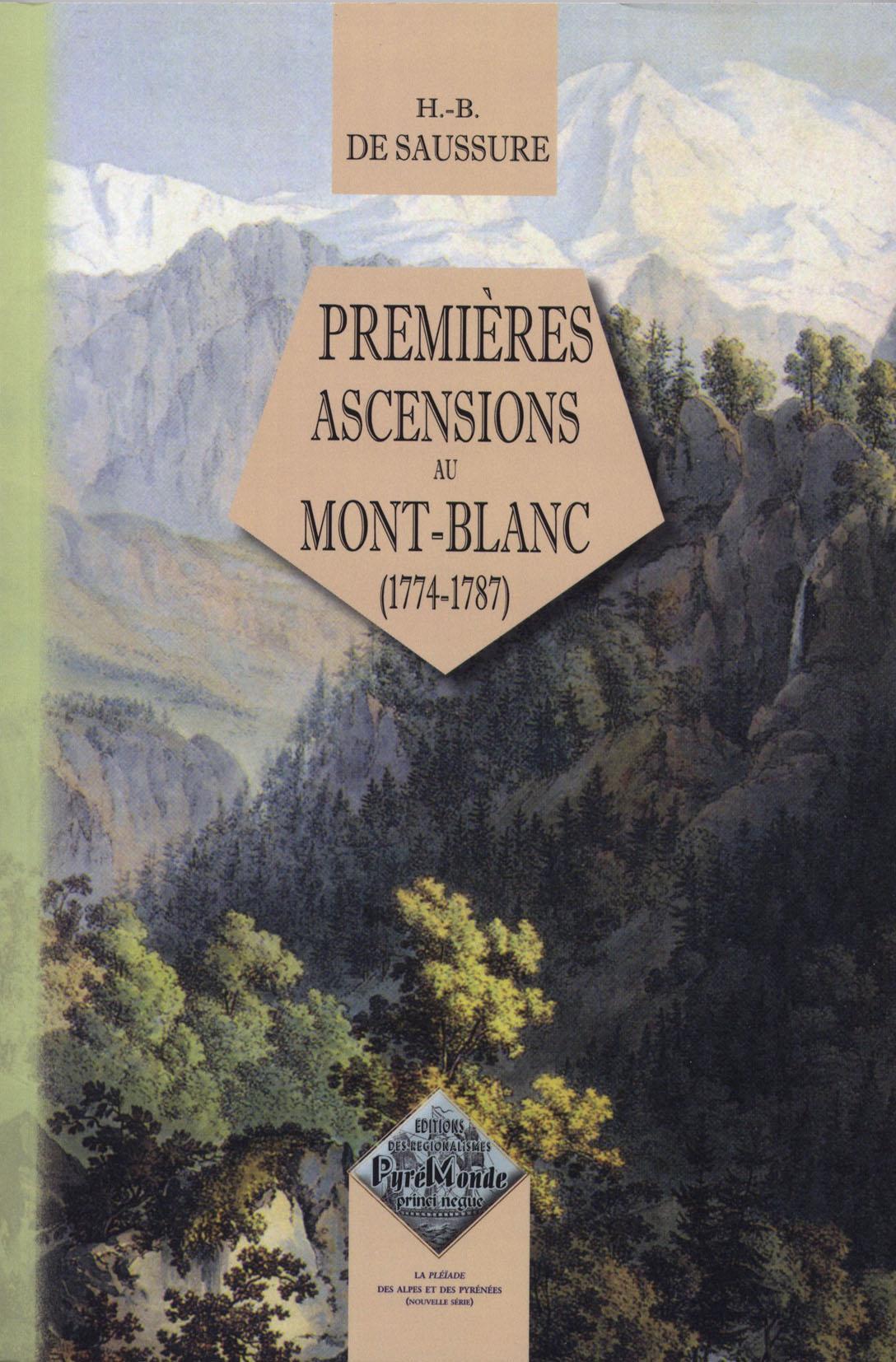 Premières ascensions au Mont-Blanc (1774-1787)