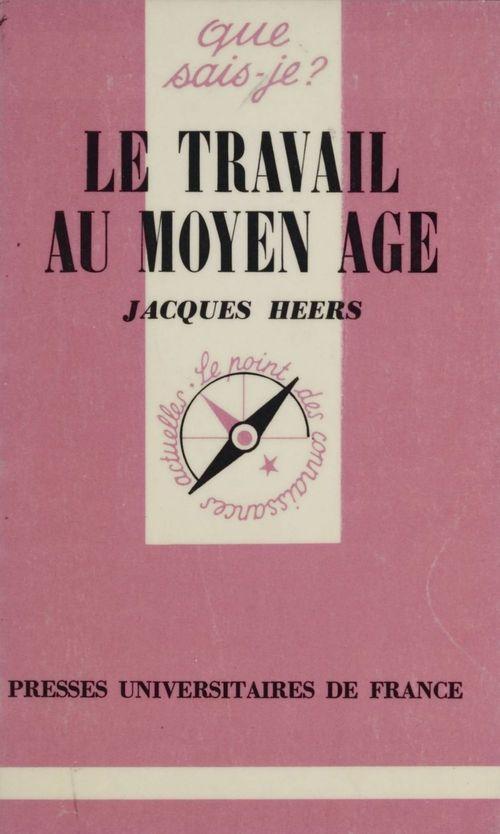 Le travail au moyen age qsj 1186