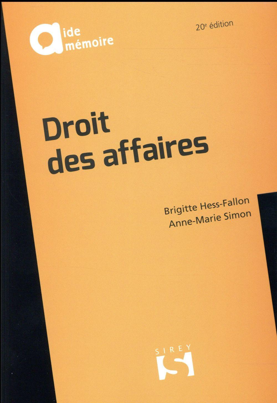 Droit des affaires (20e édition)