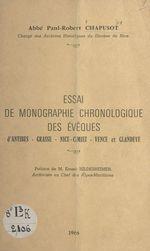 Essai de monographie chronologique des évêques d'Antibes, Grasse, Nice, Cimiez, Vence et Glandèves