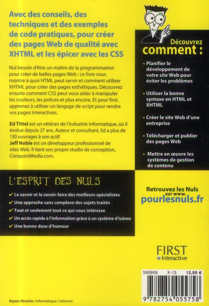 HTML, XHTML & CSS pour les nuls (3e édition)