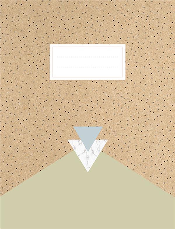 Kraft cahier (quadrillé)