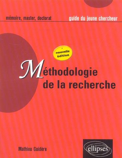 Methodologie De La Recherche Nouvelle Edition