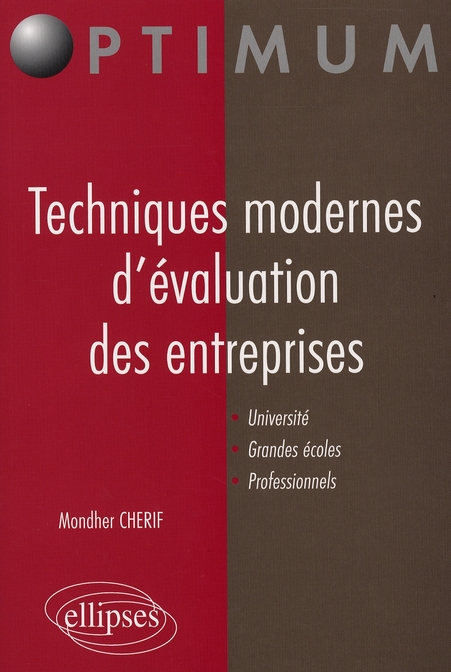 Techniques Modernes D'Evaluations Des Entreprises Universite Grandes Ecoles Professionnels