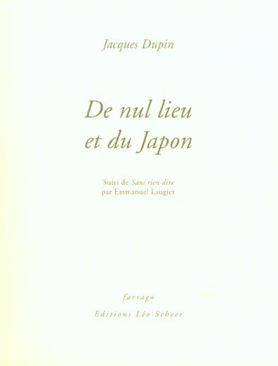 De nul lieu et du japon