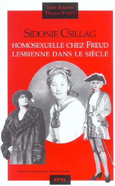 Sidonie csillag, homosexuelle chez  freud