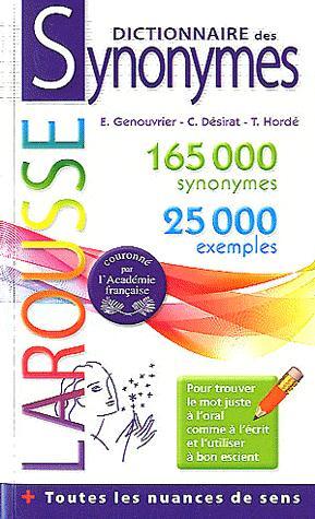 Dictionnaire De Poche Des Synonymes