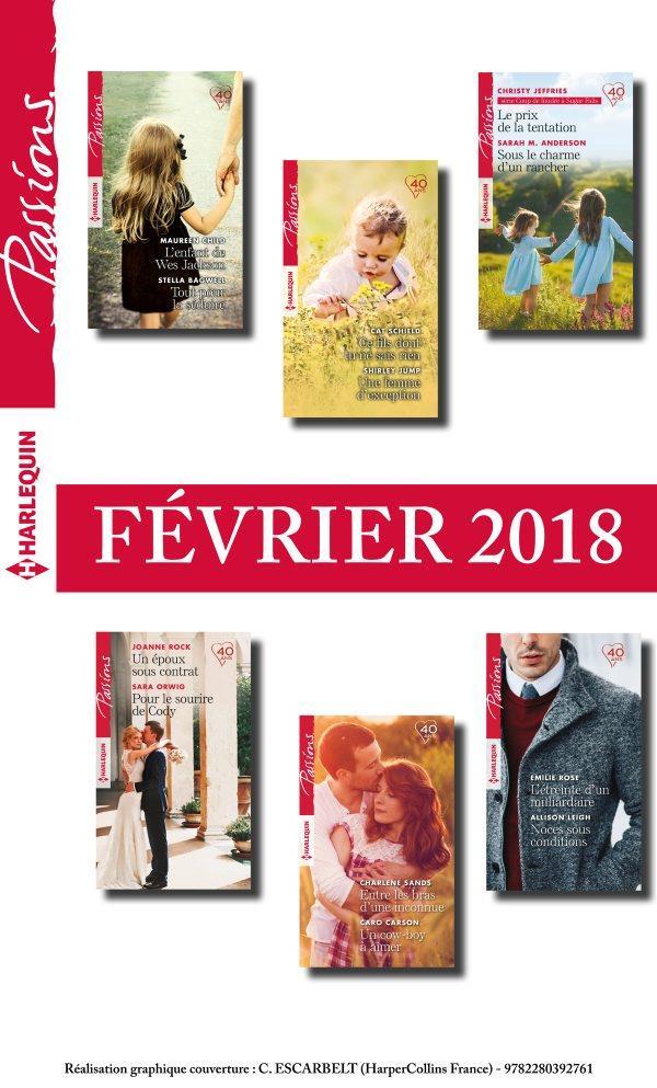 12 romans Passions (nº701 à 706 - Février 2018)