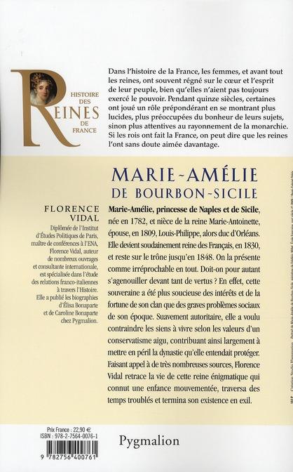 Marie-Amélie de Bourbon-Sicile ; épouse de Louis-Philippe