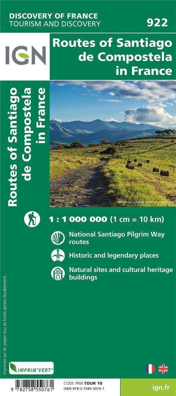 1M922 ; lles chemins vers Saint-Jacques de Compostelle (3e édition)
