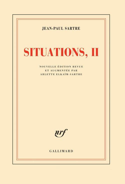 Situations (Tome 2) - Septembre 1944 - décembre 1946  - Jean-Paul Sartre