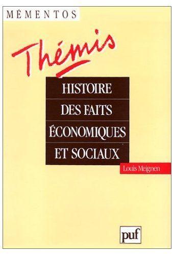 Histoire Des Faits Economiques Et Sociaux