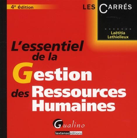 L'essentiel de la gestion des ressources humaines (4e édition)